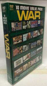 10 War Movie DVD Box Set - AusPost with Tracking