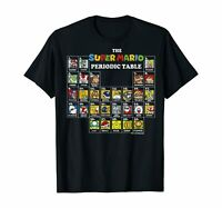 Super Mario Periodic Table Of Characters Graphic T-Shirt Size S-5XL