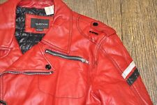 New Energie Miss Sixty Motorcycle Diesel Biker Jacket Men XXL 2XL Red