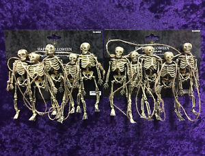 TWO Packages Skeleton Garland Halloween ADDITIONAL SHIPS FREE