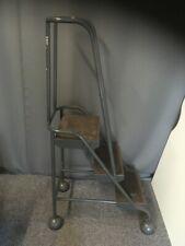 Used - Steel Framed Mobile Steps (3) Retractable Castors