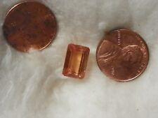 Hessonite Orange Garnet 6.03 Carats 8.09x11.97x5.89 Octagon Silky