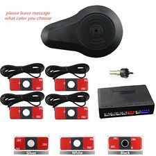 4*13mm Flat Reverse Car Parking Sensor Kit with Buzzer Sound Alarm 3 Colors