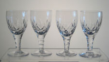 """CARLINGFORD by STUART Sherry Glasses 4 3/8"""", SET of FOUR, Signed"""
