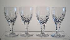 """CARLINGFORD STUART CRYSTAL Sherry Glasses 4 3/8"""", SET of 4, Signed Sold at BIRKS"""