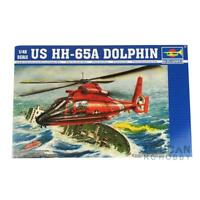 Trumpeter Plastic Model Aircraft Kit 1/48 HH-65A Dolphin Rescue Helicopter 02801