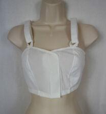 """Golda Surgi-Bra XL 518/04LF 40"""" Post Mastectomy Bra NWOT White Pocketed CB84"""
