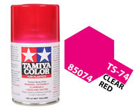 Tamiya 85074 TS-74 Clear Red Lacquer Spray Paint 100ml - US