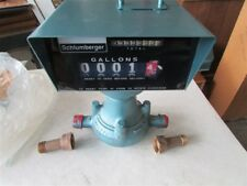 """New Schlumberger Model 600 3/4"""" NPT Flow Meter With Register E-36"""