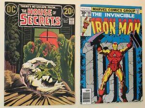 House of Secrets #100, Iron Man #100 - 2 Bronze age key comic books - VF
