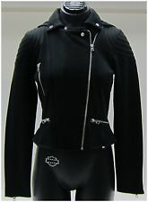 Harley-Davidson New Ladies Size L-Large Black Biker Zip-Snap, Slim Fit Jacket