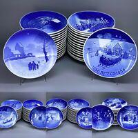 Bing & Grondahl Copenhagen Porcelain Plates Christmas JULE-AFTEN 1926 -2004 B&G