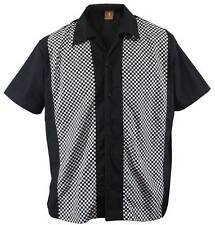 Size XL Herren Bowling Shirt Work Hemd Karo check ska Rockabilly retro kariert