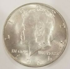 1964-D KENNEDY HALF DOLLAR, 90% Silver Coin About UNC