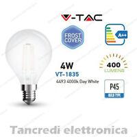 Lampadina led V-TAC 4W E14 bianco naturale 4000K VT-1835 P45 bianca filamento