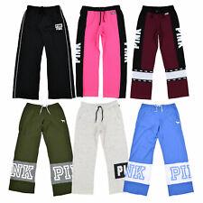 Victoria's Secret Pink Sweatpants Boyfriend Fit Gráfico Lounge Pantalón vs Nuevo Nuevo Con Etiquetas
