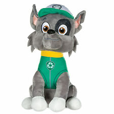 """NEW OFFICIAL 12"""" PAW PATROL SITTING ROCKY PUP PLUSH SOFT TOY NICKELODEON DOGS"""