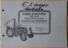 Holder Schlepper Typ B 10 Ersatzteilliste