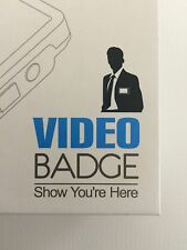 "VIDEO BADGE-Digital Name Tag-Show You're Here 3""-Screen-4GB Storage"