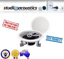 "6x STUDIO ACOUSTICS SA350A 5.5"" 2WAY 70W IN-WALL IN-CEILING SPEAKERS (3 PAIRS)"