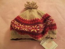 NWT Janie & Jack Snowy Meadows Nordic Tan Knit Beret Hat Girls 4T-5T