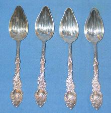Set 4 Ornate Silver Plate 1847 ROGERS BROS Fruit/Orange Spoon COLUMBIA Pattern