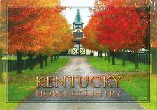 Postcard Ky Kentucky Horse Country Autumn Thoroughred Farm Barn Unused Mint