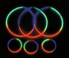"50 Premium Tri-Color 22"" inch Glow Stick Neon Party Light Necklaces (1) TUBE RGB"