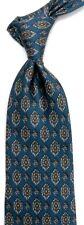 "Blue Medallion CHARLES JOURDAN Silk LOGO Tie 3.8"" Wide 58"" Long Made in ITALY"