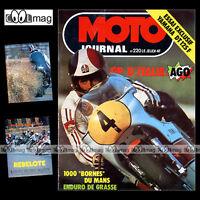 MOTO JOURNAL 220-b YAMAHA DT 125 F 1975 ★ POSTER SIDE-CAR BORET SHELL-KONIG ★