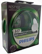 H7 philips color vision Green px26d +60% más de luz 2st set 12972 cvpg
