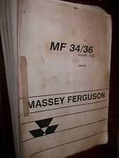 Massey Ferguson MF34/36 : catalogue de pièces 1997