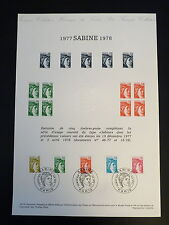 FRANCE MUSEE POSTAL FDC 29-78   TIMBRES LES SABINES   0,80+1,20+1+F PARIS  1978