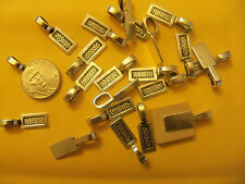 50 27mm Rectangular Scrabble Glue On Bails findings beads dominoes cabochans
