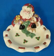 Fitz and Floyd Home Fragrance Handcrafted Holiday Santa Plate
