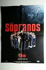 THE SOPRANOS TV TOWER 1999 RARE LARGE 18x24 FOLDED MAGAZINE POSTER