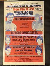 1977 MUHAMMAD ALI vs ALFREDO EVANGELISTA Onsite Boxing Program / Ad Poster MINT