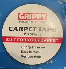 """Grippy Carpet Tape 2""""x30 Yards Double Sided Strong Adhesive Area Rug No Residue"""