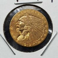 1912 P $2.5 Indian Head Quarter Eagle Gold Coin BU Uncirculated PRE-1933 US TYPE