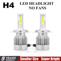 Pair COB H4 C6 10800LM 120W LED Car Headlight Kit Hi/Lo Turbo Light Bulbs 6000K+