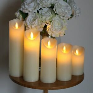 LED Flickering Candle Light Flameless Battery/USB Chargeable Wedding Decor White