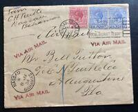 1934 Nassau Bahamas Airmail Cover to St Augustine FL USA