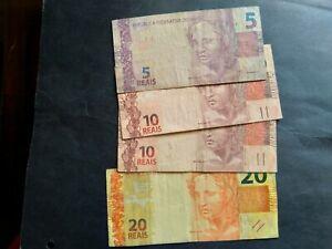 BRAZIL 45 REAIS LOT BANKNOTE