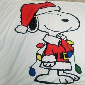 Peanuts Santa SNOOPY Christmas Lights King Duvet