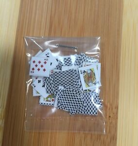 Dollhouse Miniatures Playing Cards