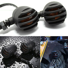 Black Motorcycle Turn Signals Mini Bullet Amber Indicator Lights Lamp Dirt Bikes