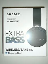 "Sony Extra Bass Wireless Stereo Headset (MDR-XB650BT) Black ""New"""