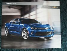 2018 CHEVROLET CAMARO SS 1LE ZL1 REDLINE EDITION SHOWROOM BROCHURE NEW AND COOL