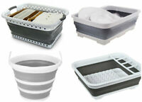 NEW Collapsible Folding Kitchen Laundry Basket Bucket Dish Drainer Basin Camping