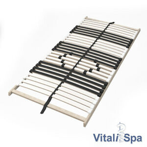 Sommier à lattes VitaliSpa 7 zones 90x200 cm Réglage de la dureté et confort pre